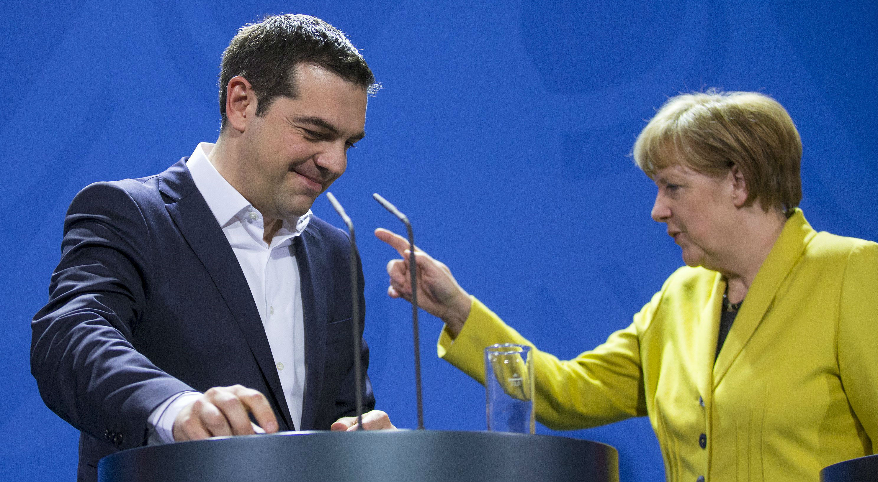 Greek Prime Minister Alexis Tsipras and German Chancellor Angela Merkel now have the opportunity to rise to the occasion as European statesmen, not as politicians. Photo: Reuters