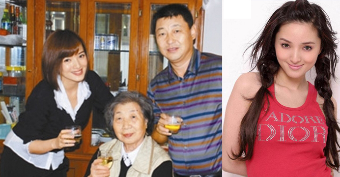 Zhang Lanlan (left photo) is shown with family members. She has often been hailed as China's Marilyn Monroe for her good looks. Photos: internet, Shenzhen Special Zone Daily