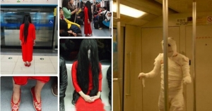 It's Halloween, but don't dress up like this on Beijing subway