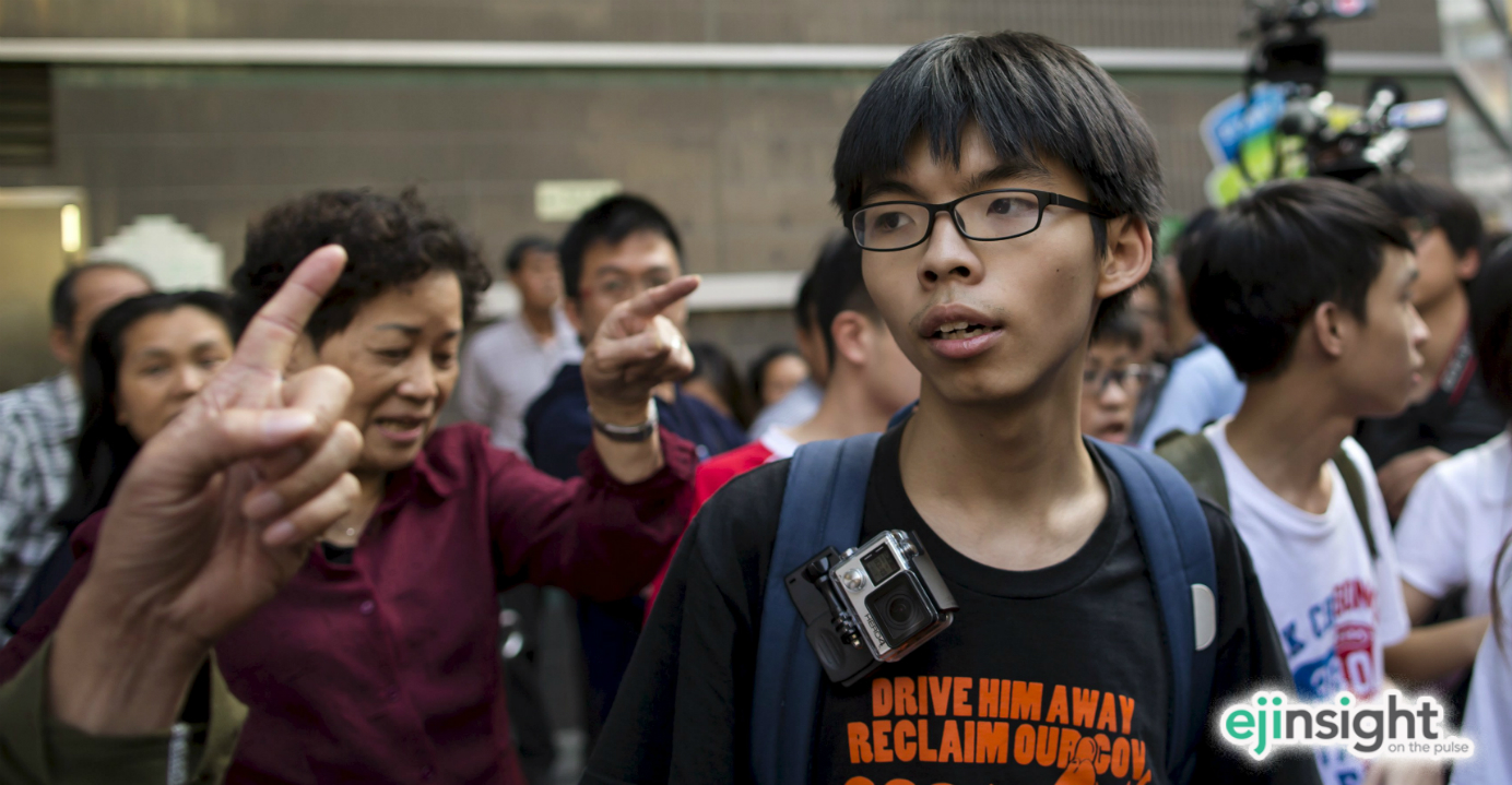 Joshua Wong has been forced to take a return flight to Hong Kong after being denied entry to Malaysia. Photo: Reuters