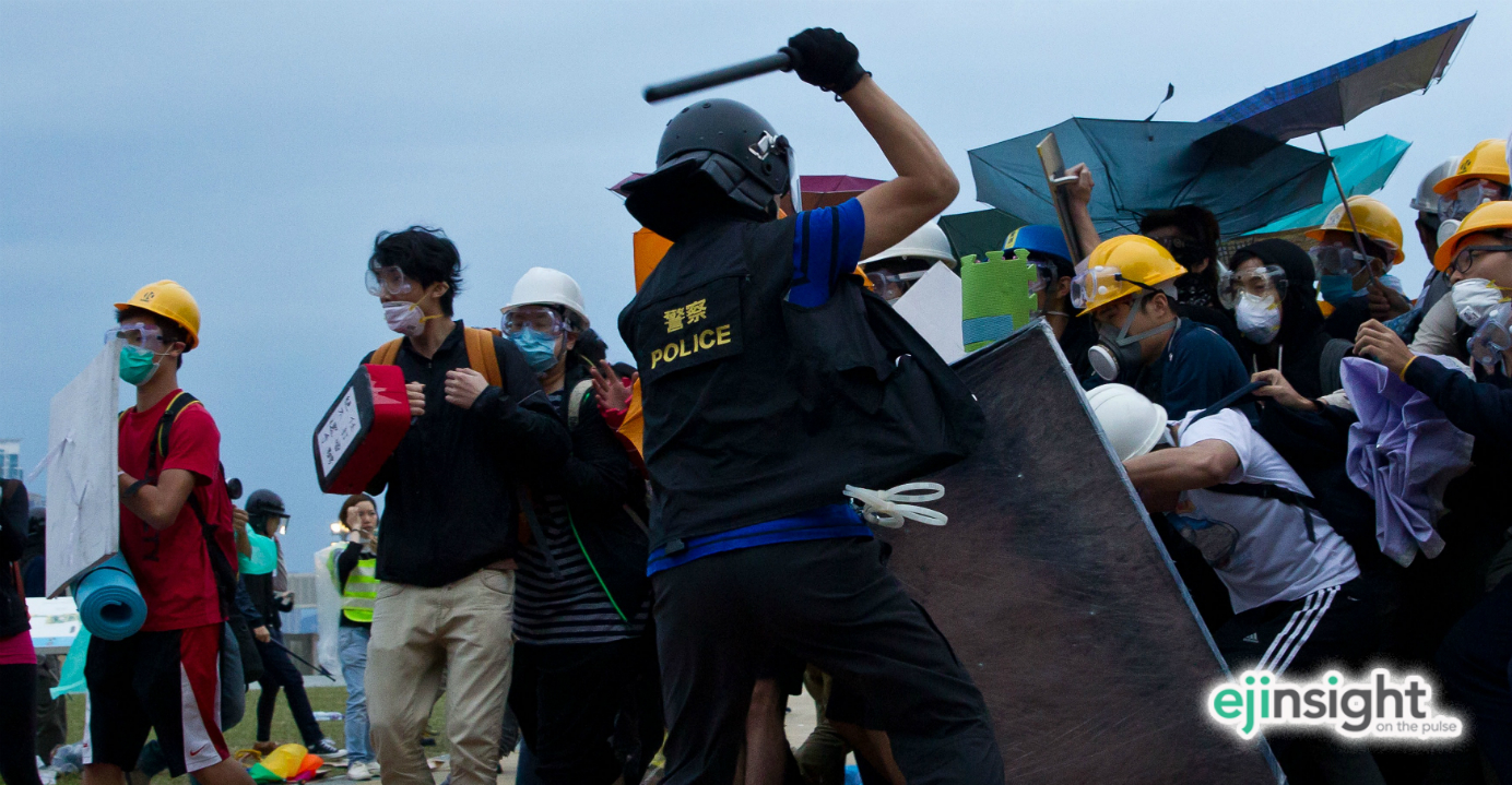 Hong Kong police have seen their reputation get dented following violent action against some pro-democracy protesters last year. Photo: AFP