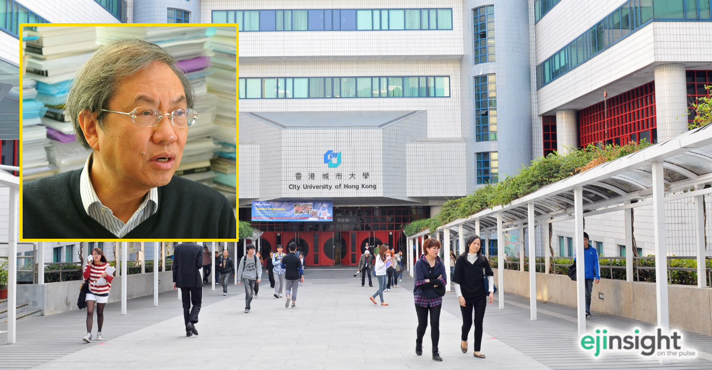 City University of Hong Kong made a huge leap in this year's QS rankings, jumping to the 57th place from 108th last year. Former CityU professor Joseph Cheng (inset) was criticized by Beijing mouthpieces for his involvement in Occupy protests.