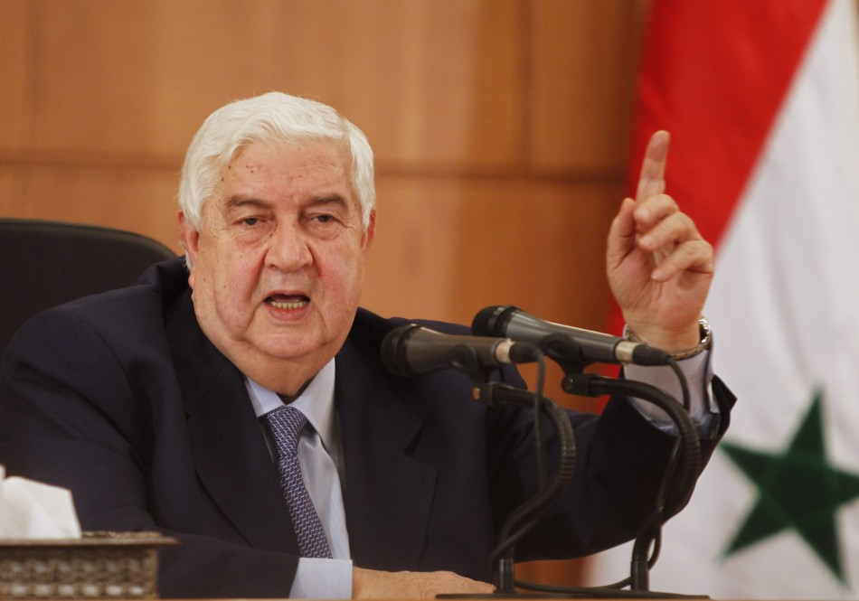 Syrian Foreign Minister Walid al-Moualem has confirmed Russia is providing new weapons to Syria and training government troops. Photo: IBT