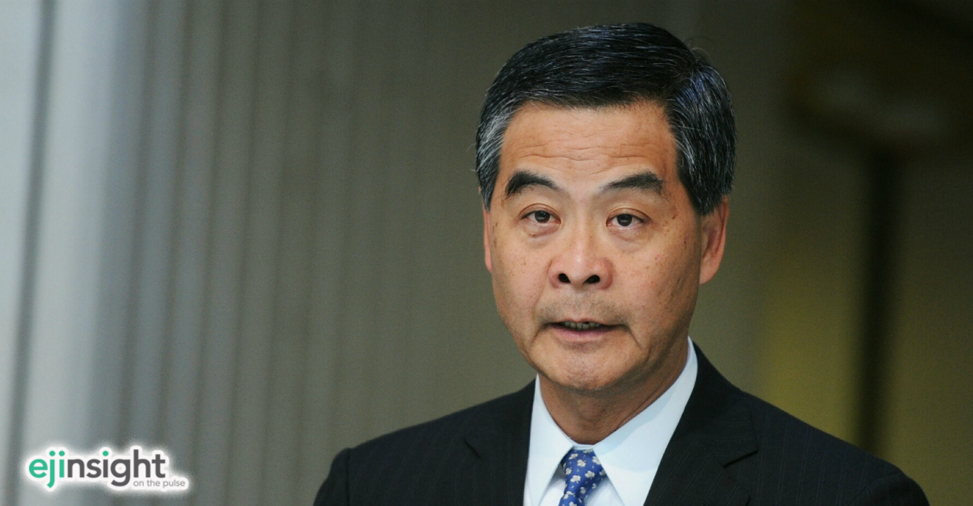 Chief Executive Leung Chun-ying sees an answer to the housing needs of young people. Photo: CNSA
