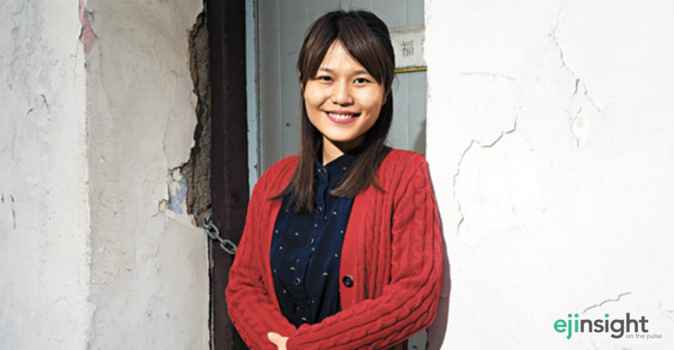 Clarisse Yeung, newly elected district councilor at Wan Chai's Tai Hang constituency, aims to keep all her campaign promises, and installing more ATMs in the neighborhood will come first. Photo: HKEJ