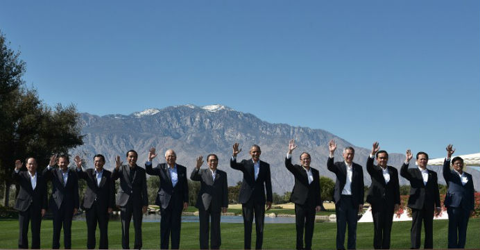 Barack Obama has long cultivated a working relationship with ASEAN leaders, most recently at this month's summit at the Sunnylands resort in California. Photo: AFP