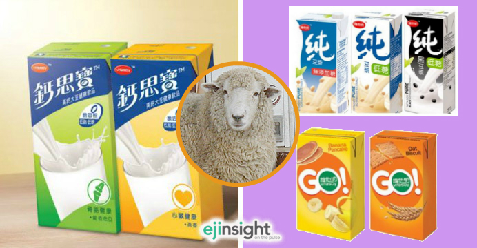 Vitasoy suggests that strict vegetarians should consider buying soymilk products under the series PURE (top, right) and Vitasoy Go (bottom, right), rather than Calci-Plus (L). Photos: Facebook, Tony Ng
