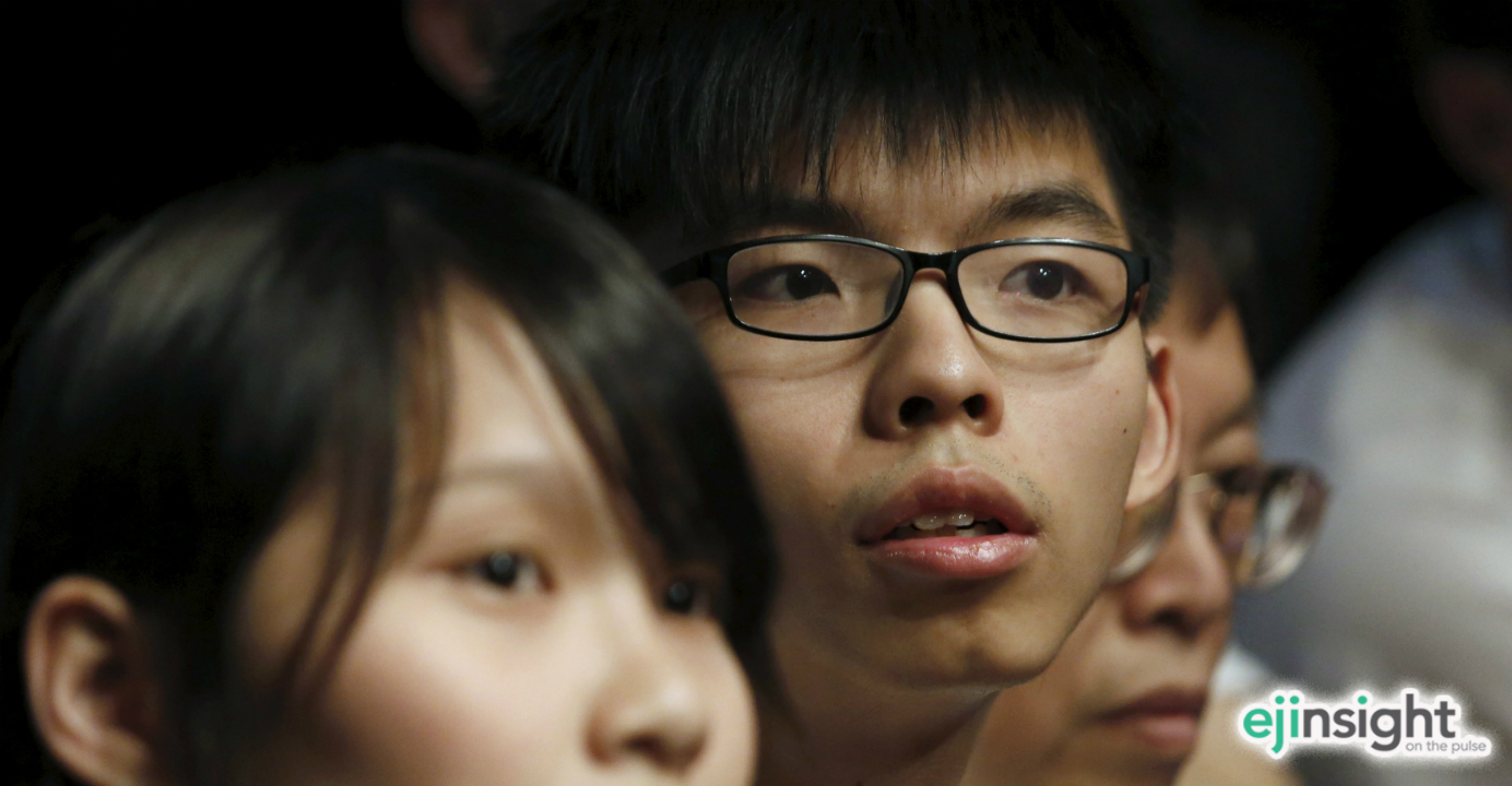 It is too early to write off Joshua Wong (center), who has shown acumen and foresight in his brief career as a political activist. Photo: Reuters