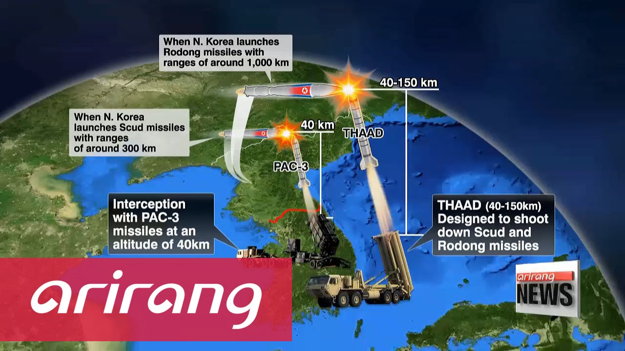 South Korea's semi-official Arirang TV reports on the deployment of THAAD. The US-developed system can shoot down missiles with 100 percent success rate. Photo: Arirang TV
