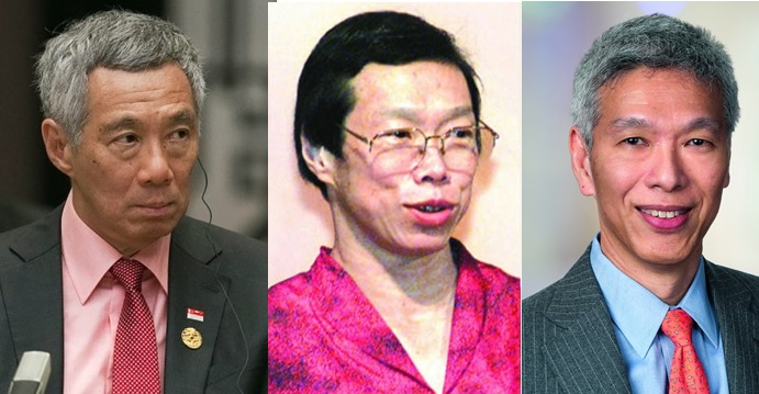 Singapore Prime Minister Lee Hsien Loong (left) has denied accusations by his two younger siblings Wei Ling (center) and Hsien Yang that he threatened them over the fate of the family house. Photos: Reuters, Internet, Flickr