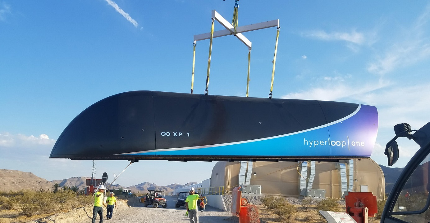 Hyperloop One, Elon Musk's futuristic transportation system, attained speed record of nearly 387 kilometers per hour in third-phase testing last December. Photo: Virgin Hyperloop One