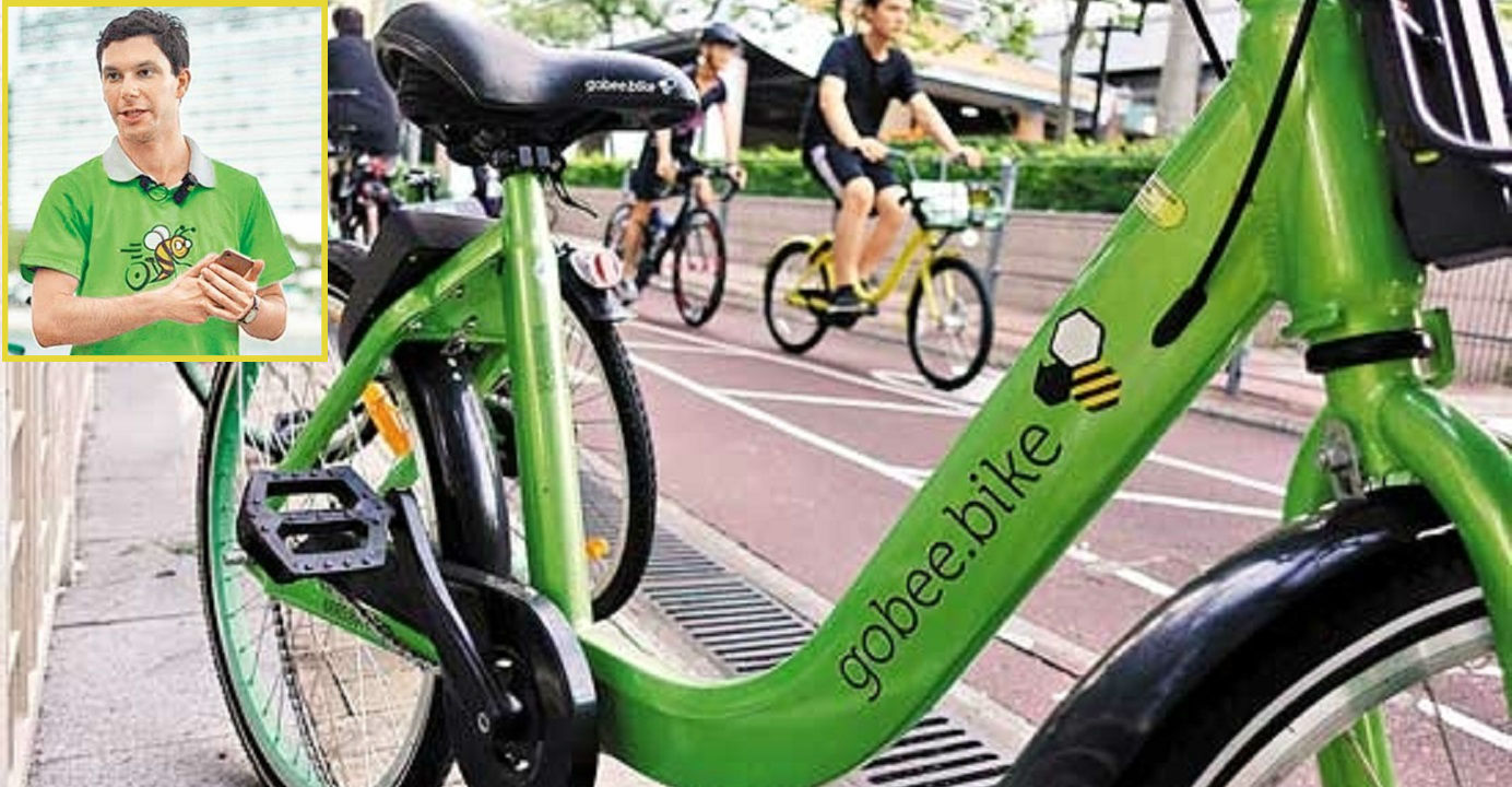 Gobee.bike co-founder and CEO Raphael Cohen (inset) says the company is halting its operations due to losses and high bike maintenance costs. Photos: China News Agency, Internet
