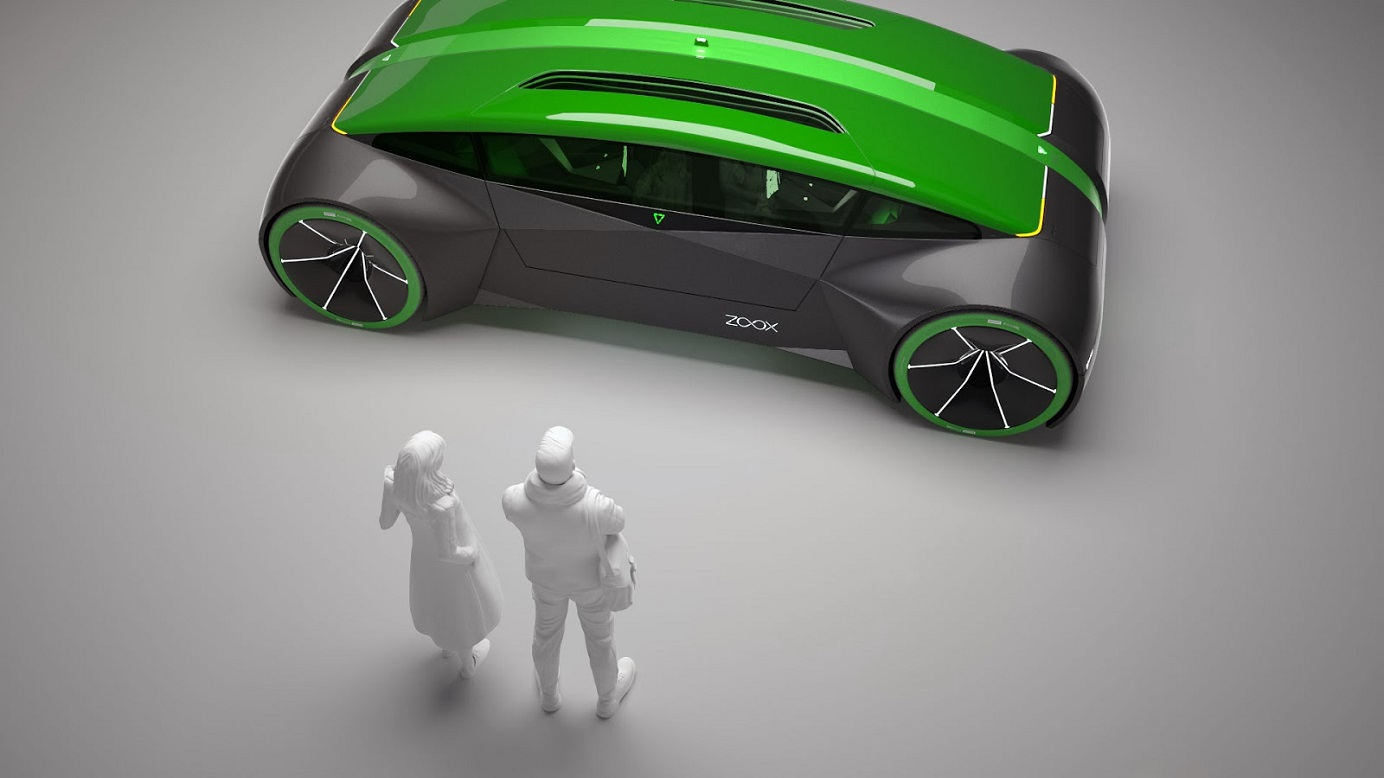 A concept image of The Boz, Zoox's autonomous bi-directional electric vehicle. The startup recently landed California permit to test self-driving taxi service. Photo: Zoox