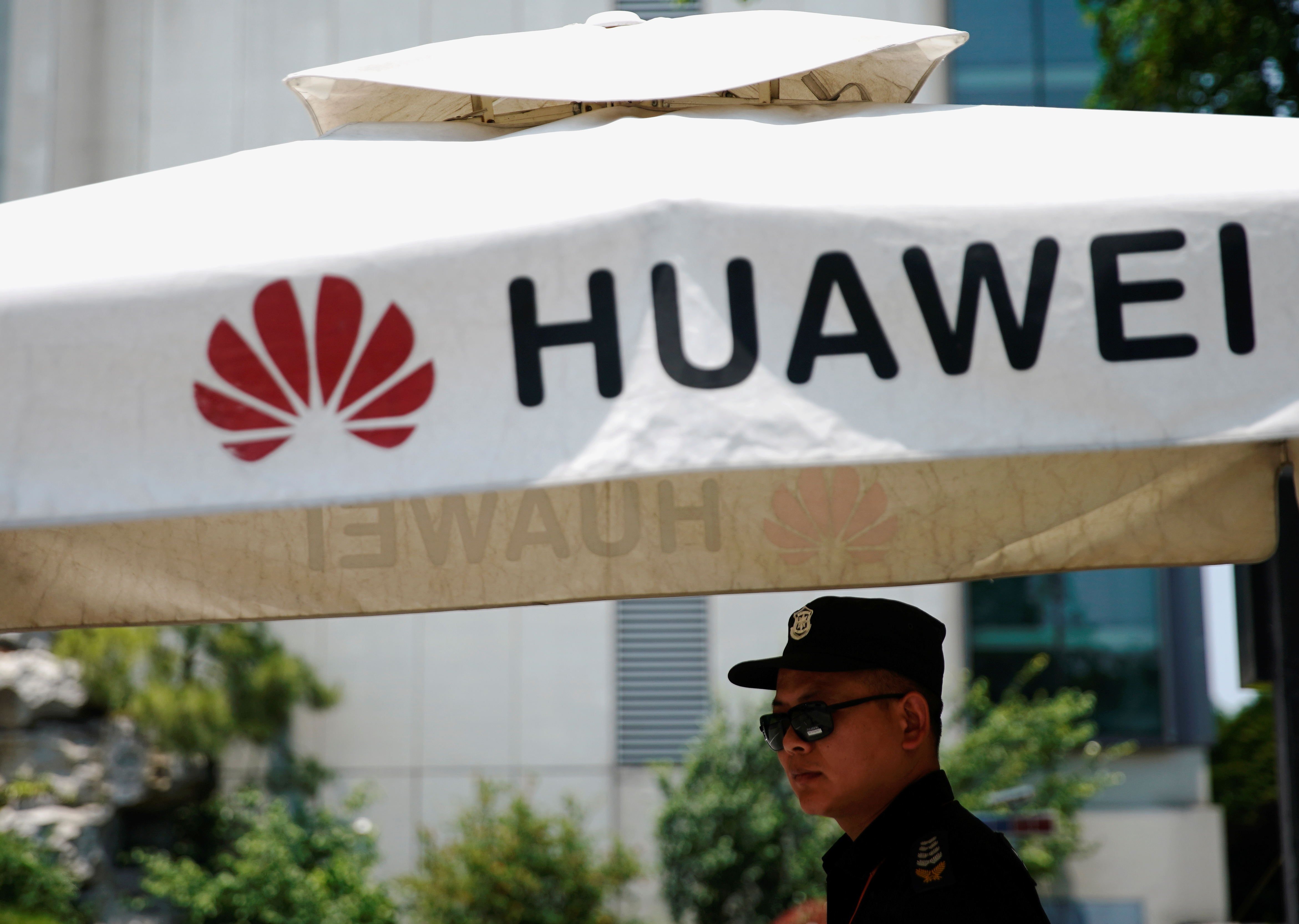 A Huawei logo is seen at the firm's research center in Shanghai. The Chinese telecoms equipment giant is likely to step up development of own technologies in the wake of US sanctions. Photo: Reuters