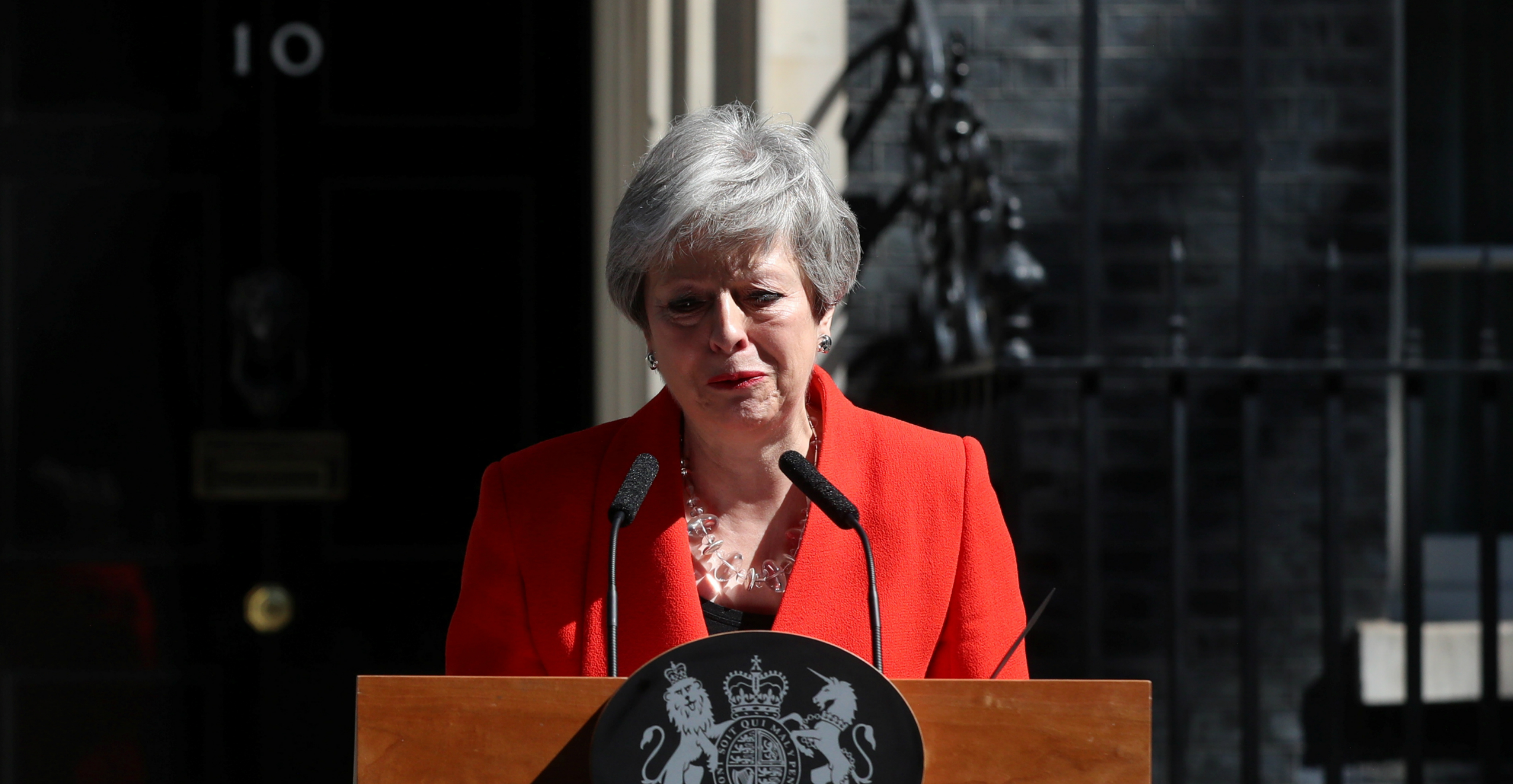 "British Prime Minister Theresa May: ""It is, and will always remain, a matter of deep regret to me that I have not been able to deliver Brexit."" Photo: Reuters"