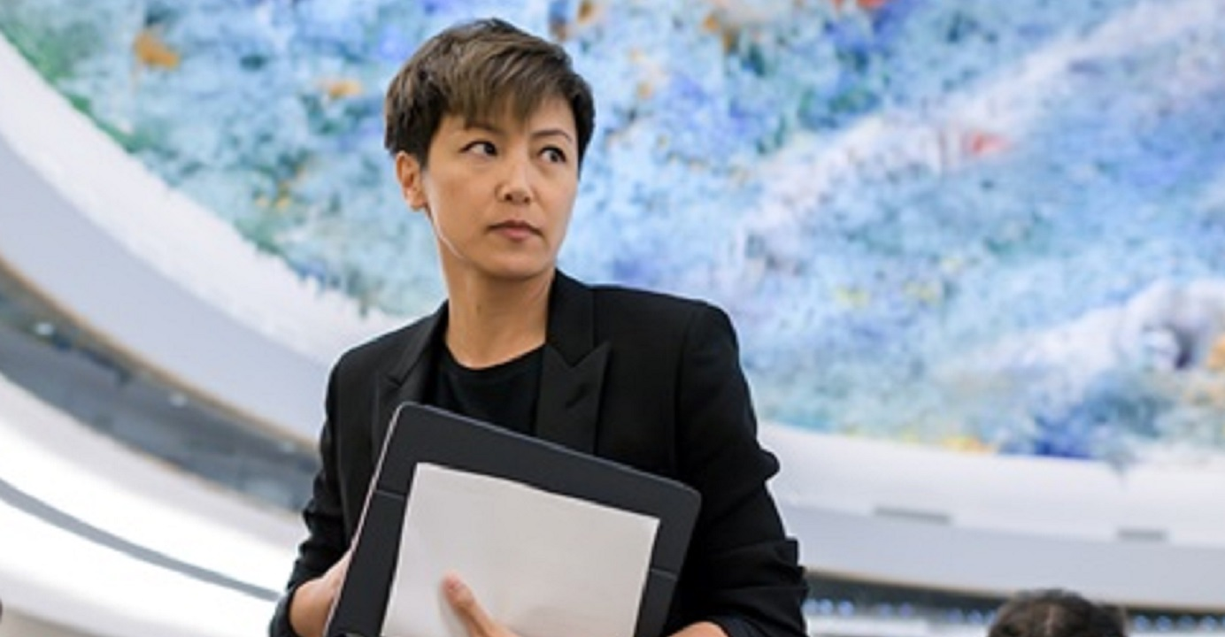 Hong Kong Canton-pop singer Denise Ho tells the UN Human Rights Council that the city's autonomy has slowly eroded since the 1997 handover. Photo: AFP