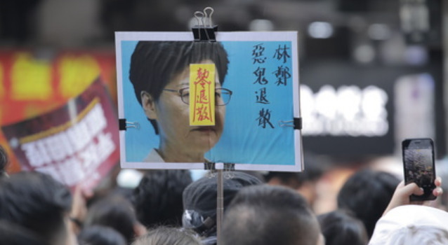 Carrie Lam and her bosses in Beijing don't seem to realize the depth of people's anger and unhappiness in Hong Kong, observers say. Photo: HKEJ