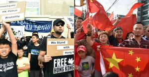 Red versus black: HK protests in Canada