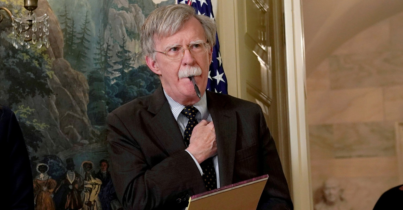 John Bolton's ouster as national security adviser may make the White House look less hawkish, but it certainly doesn't mean President Donald Trump is turning into a dove. Photo: Reuters