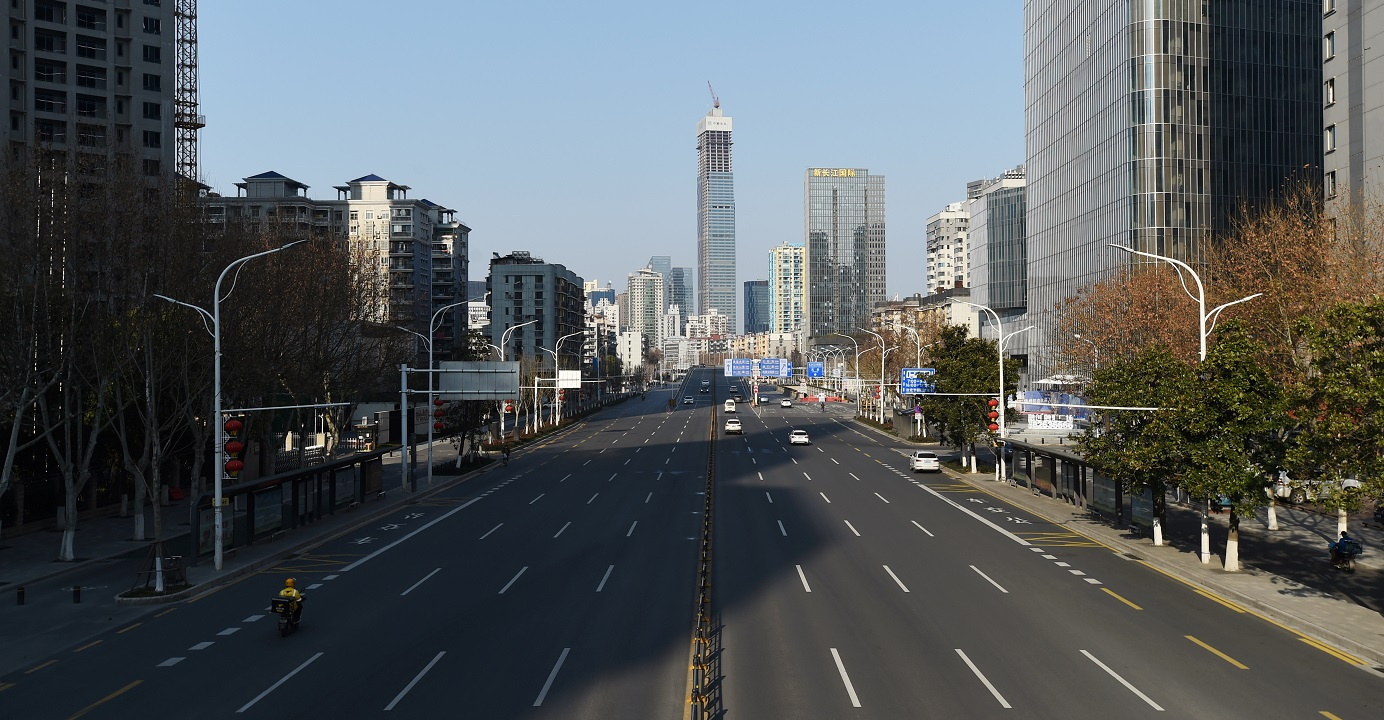 A major avenue in Wuhan, the capital of central China's Hubei province. More than 2,700 Hongkongers are stranded in Hubei as the death toll linked to the novel coronavirus continues to rise in the province. Photo: Reuters