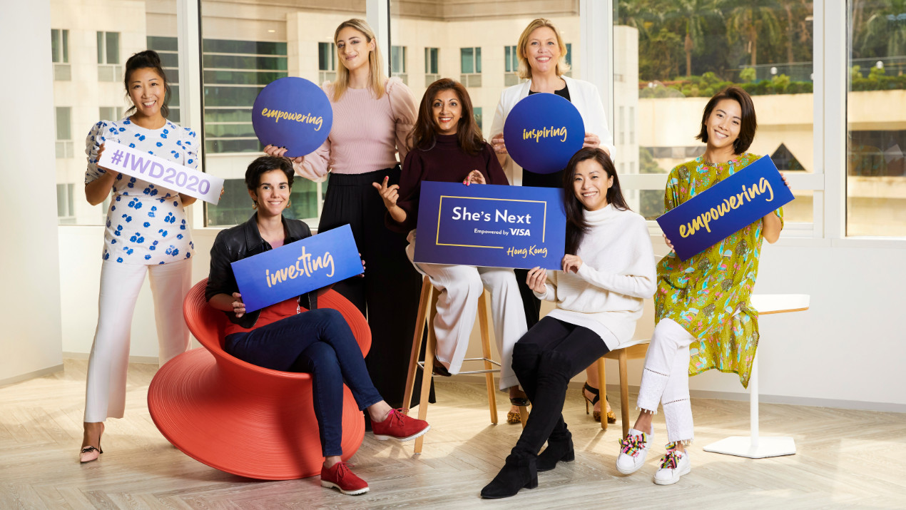 From left to right: Sarah Fung, founder and CEO, HULA.com; Karen Contet Farzam, Co-founder, WHub.io & AngelHub.io; Diane Younes, founder, Sponge; Kirti Lad, founder and Executive Director, Meraki Executive Search & Consulting; Maaike Steinebach, G